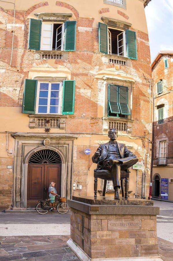 贾科莫・普奇尼普遍的吸引力纪念议院在卢卡,意大利 免版税库存图片