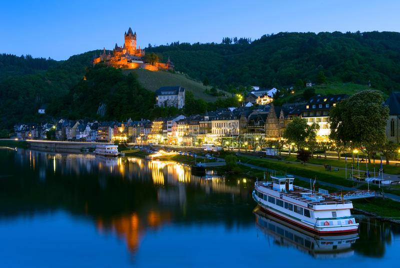 科赫姆城堡在科赫姆,德国 免版税库存图片