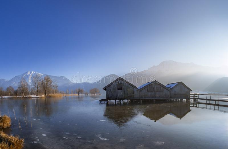 科赫尔湖的,巴伐利亚,德国船库 库存图片