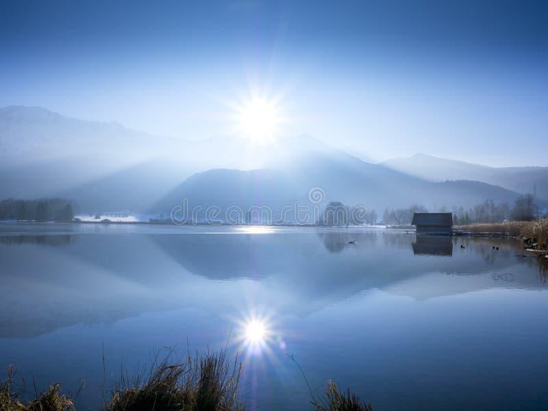科赫尔湖的,巴伐利亚,德国船库 免版税图库摄影
