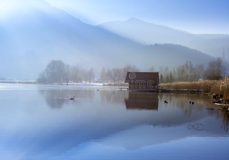 科赫尔湖的,巴伐利亚,德国船库 免版税库存图片