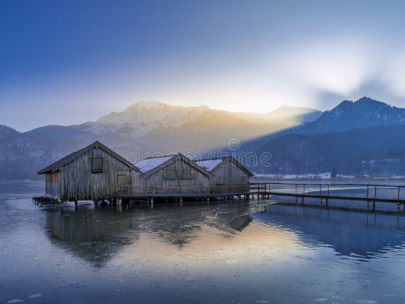 科赫尔湖的,巴伐利亚,德国船库 免版税库存照片