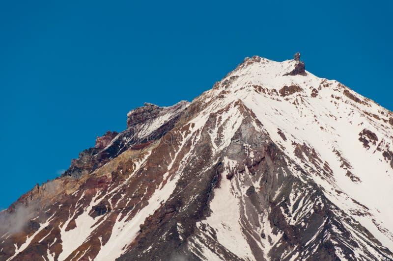 科里亚克火山如被看见从阿瓦恰火山 堪察加边疆区 库存照片