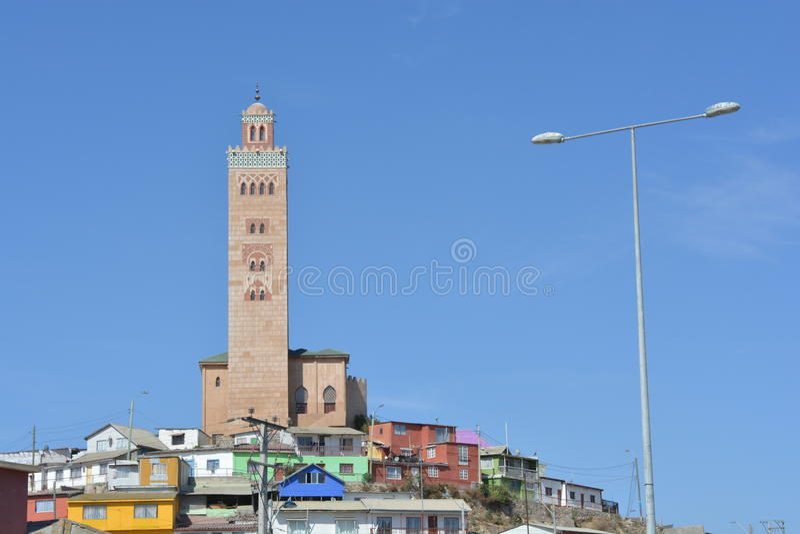 科金博,智利清真寺  免版税库存图片