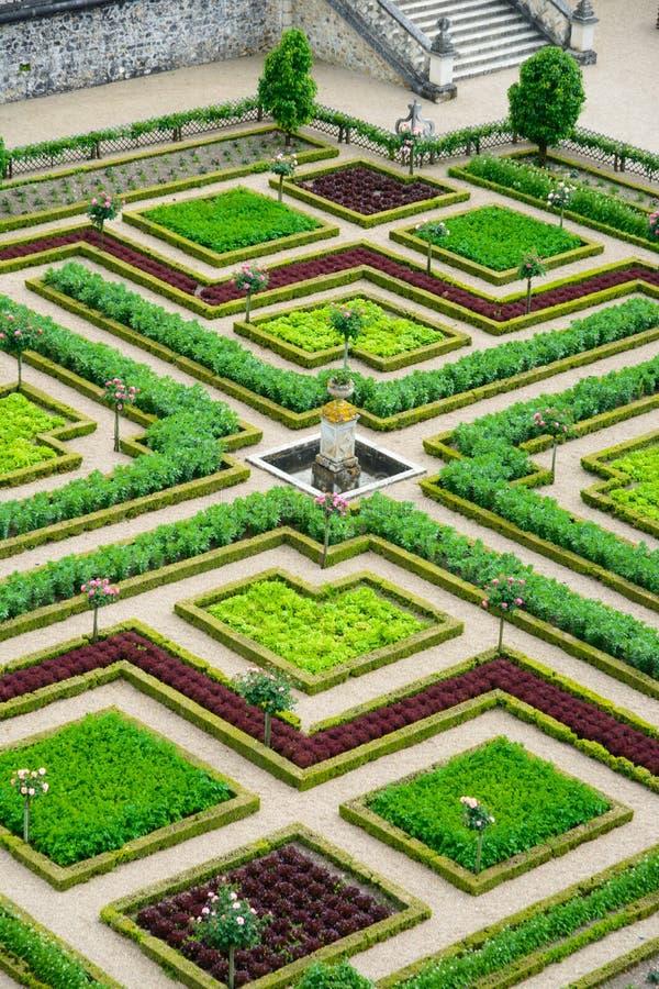 科隆比耶尔城堡庭院/大别墅De科隆比耶尔 库存图片