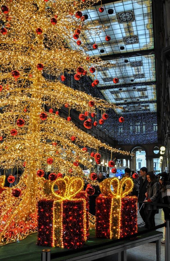 科隆纳美术画廊购物中心在罗马 免版税库存照片