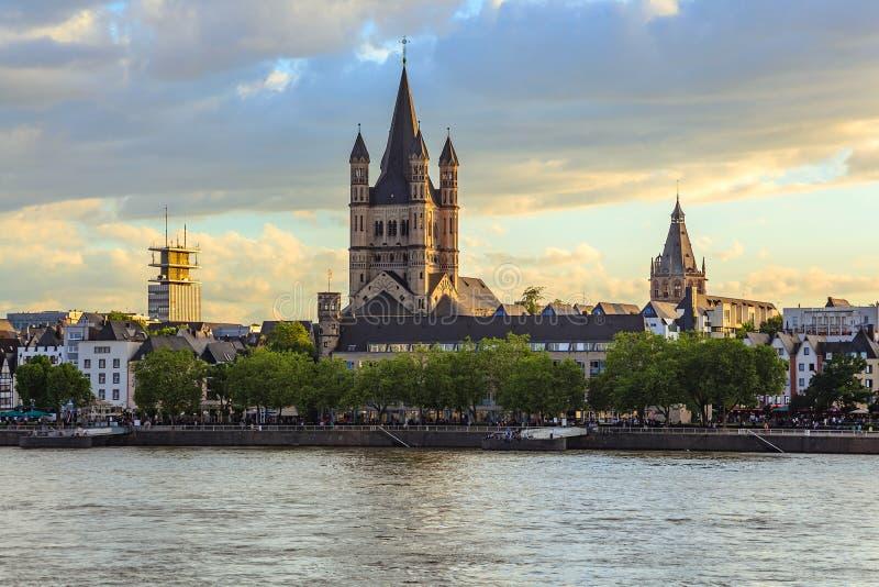 科隆都市风景地平线-德国 免版税图库摄影
