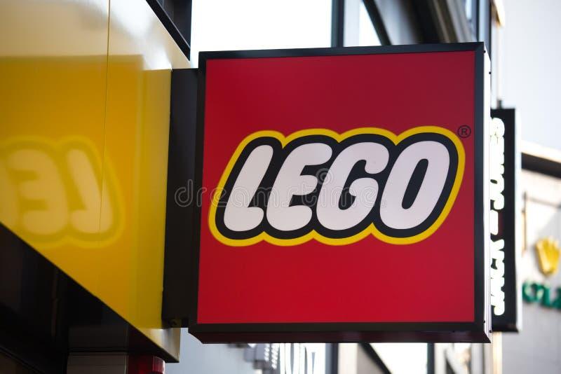科隆,北莱茵-威斯特法伦/德国- 17 10 18:lego签到科隆香水德国 免版税库存照片