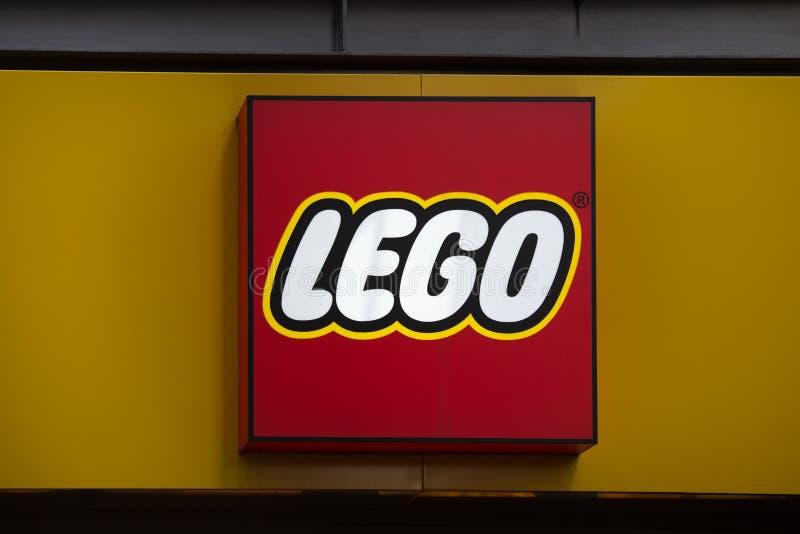 科隆,北莱茵-威斯特法伦/德国- 17 10 18:lego签到科隆香水德国 免版税图库摄影