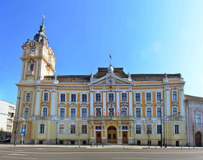 科鲁Napoca市政厅 图库摄影