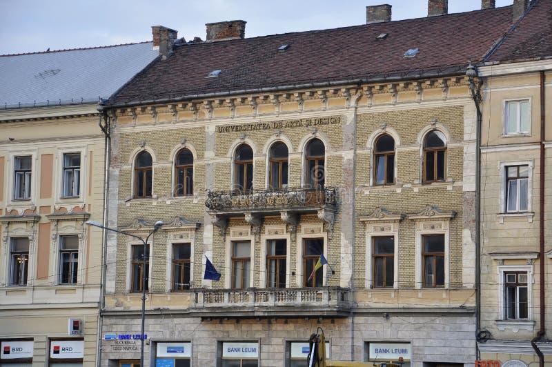 科鲁Napoca RO, 9月24日:历史建筑细节在从特兰西瓦尼亚地区的科鲁Napoca在罗马尼亚 库存照片