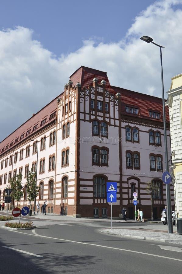 科鲁Napoca RO, 9月24日:历史建筑细节在从特兰西瓦尼亚地区的科鲁Napoca在罗马尼亚 库存图片