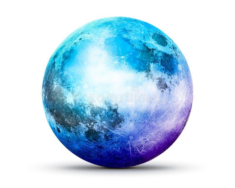 科洛尔月亮  皇族释放例证