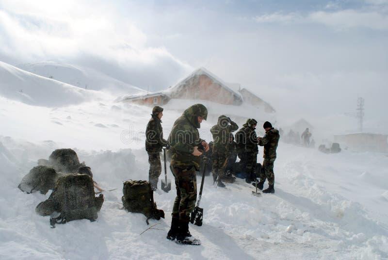 科索沃安全部队在Restelica,科索沃 免版税库存照片