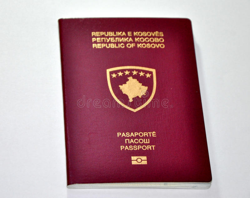科索沃新的护照 免版税图库摄影