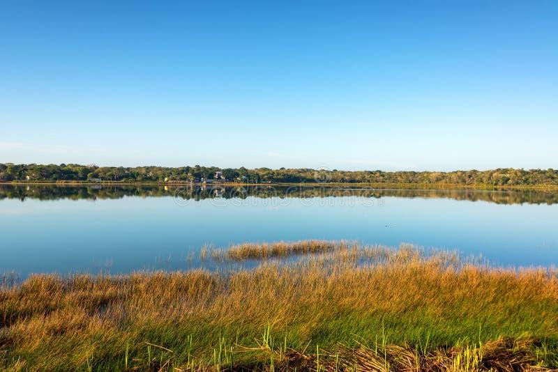 科巴盐水湖在墨西哥 免版税图库摄影