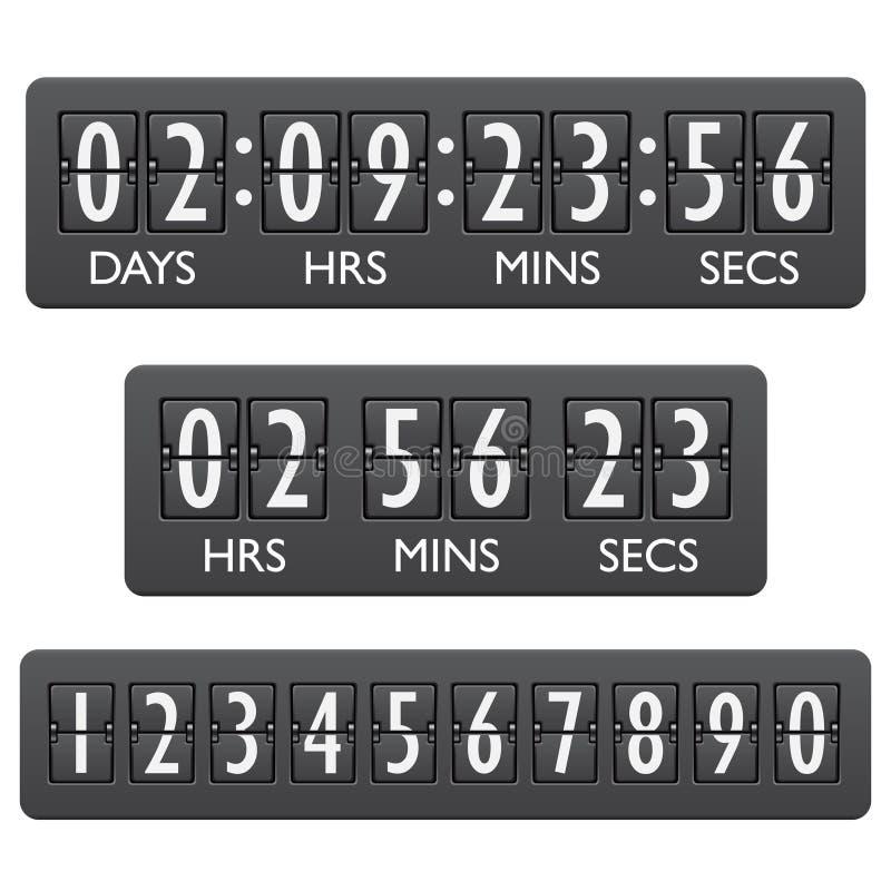 读秒定时器象征 皇族释放例证