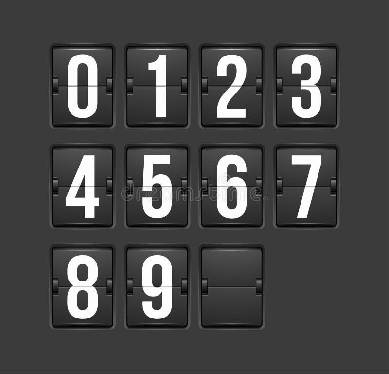 读秒定时器,白色颜色机械记分牌 皇族释放例证