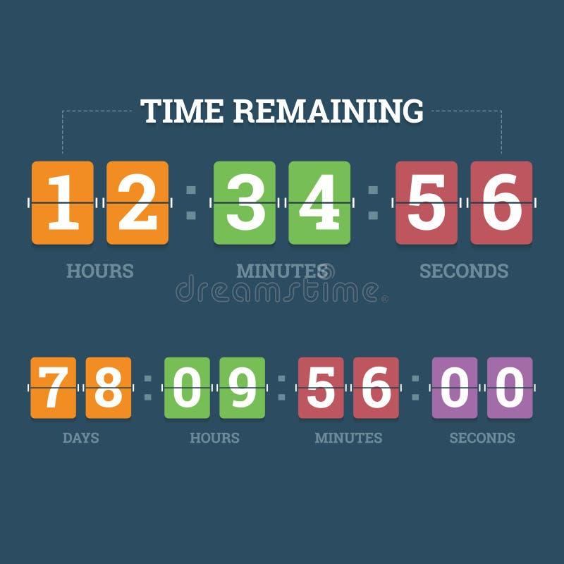 读秒机械时钟 库存例证