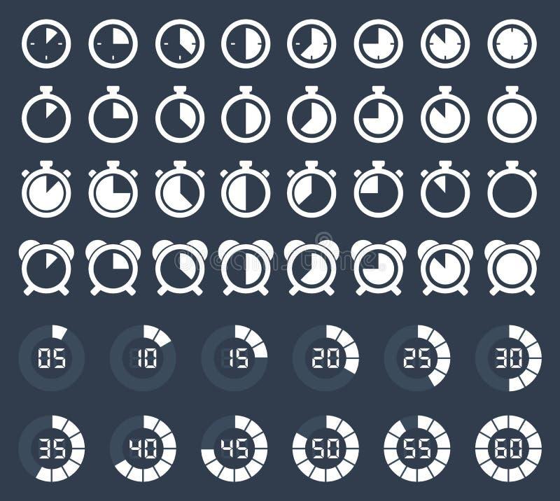 秒表和定时器象 库存例证