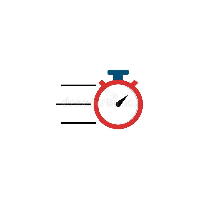 秒表商标模板象 向量例证