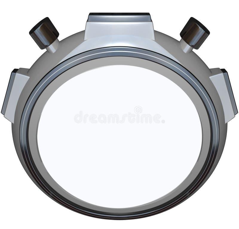 秒表定时器空白拷贝空间速度种族 免版税图库摄影