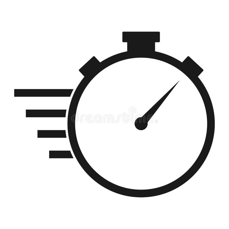 秒表线传染媒介象 短时间交付 向量例证