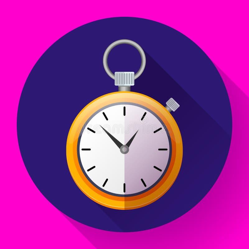 秒表象传染媒介标志种族 时间的例证 向量例证