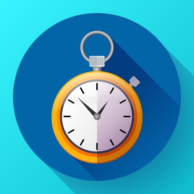 秒表象传染媒介标志种族 时间的例证 库存例证