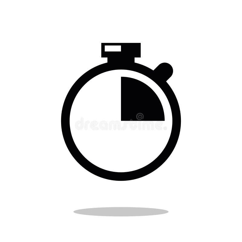 秒表象传染媒介 现代简单的平的秒表标志 现代简单的平的元素 事务,互联网概念 库存例证