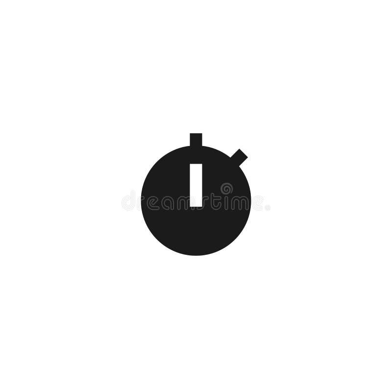 秒表象设计 简单的干净的专业业务管理概念传染媒介例证设计 向量例证