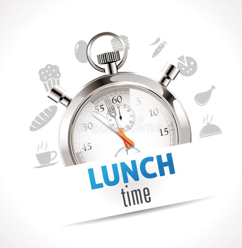 秒表-午餐时间 皇族释放例证