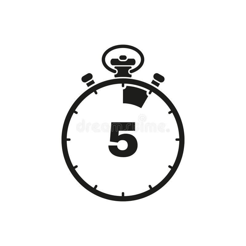 5秒,分钟秒表象 时钟和手表,定时器,读秒标志 Ui 网 徽标 标志 平的设计 阿帕卢萨马 向量例证