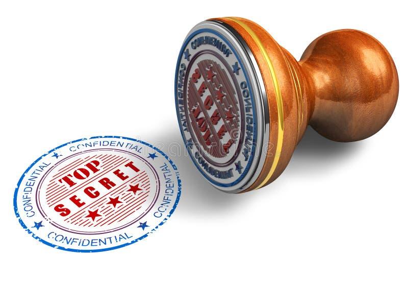 秘密印花税顶层 向量例证