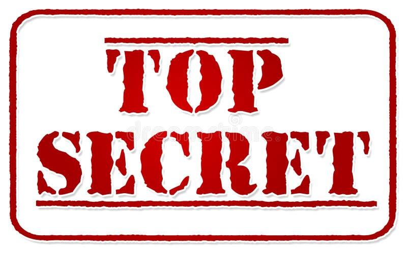秘密印花税顶部白色 库存例证