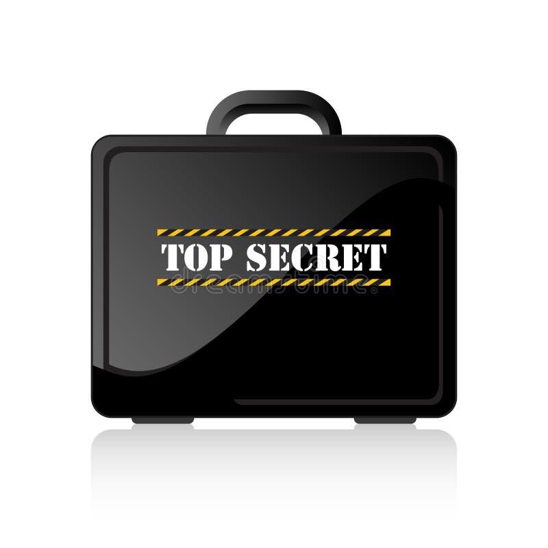 秘密手提箱顶层 向量例证