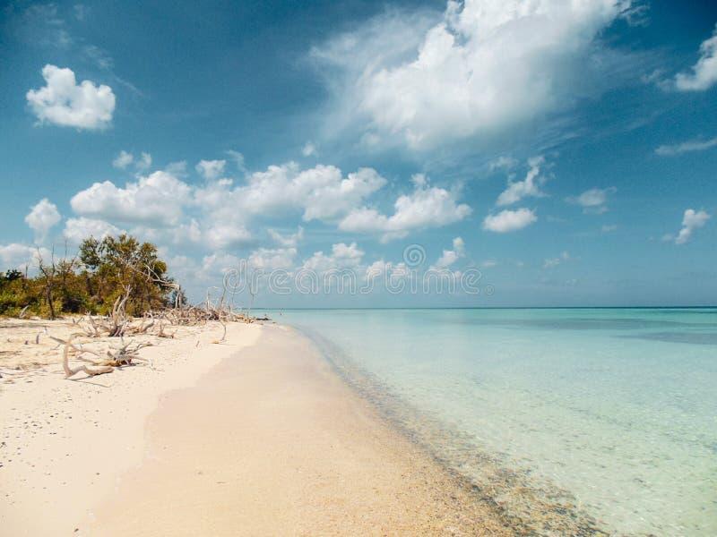 秘密海滩在Vinales,古巴 库存照片