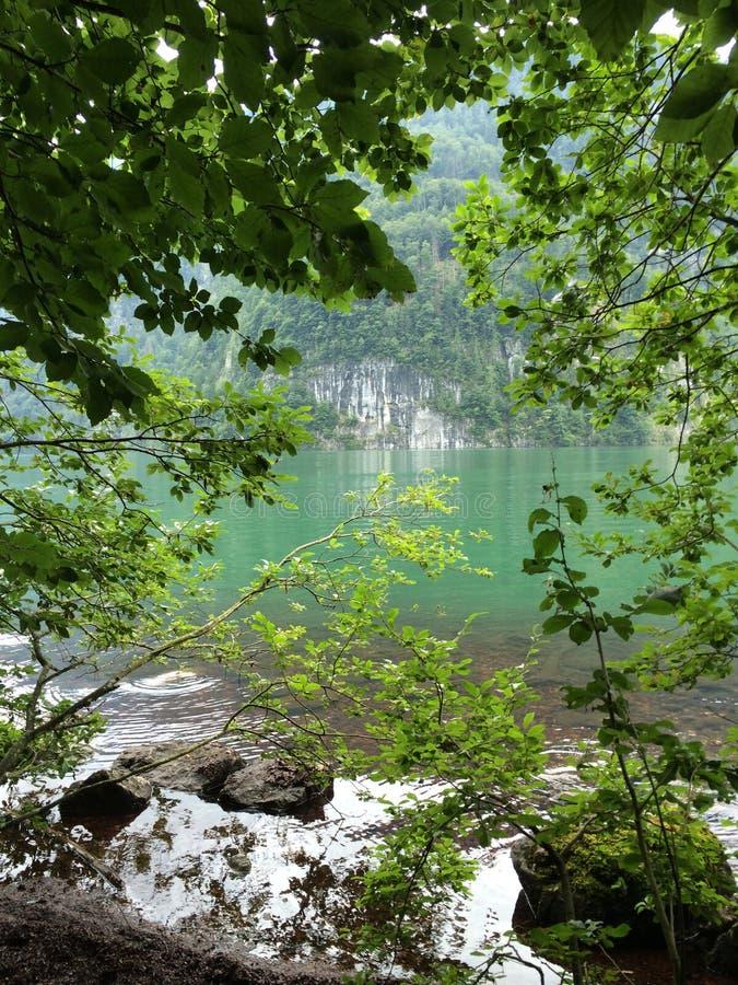 秘密湖 库存图片