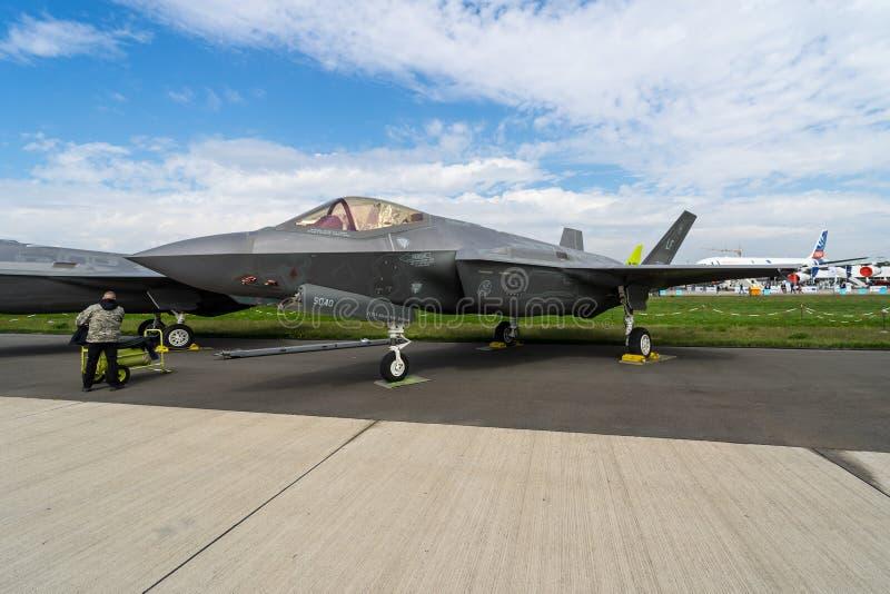 秘密行动多角色战斗机洛克西德・马丁F-35闪电II 免版税库存图片