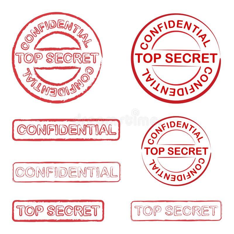 秘密顶层 库存例证
