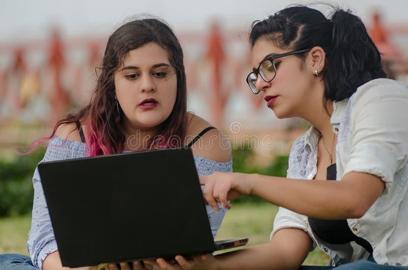 秘鲁俏丽的兴高采烈的面孔肥胖妇女工作画象  库存图片