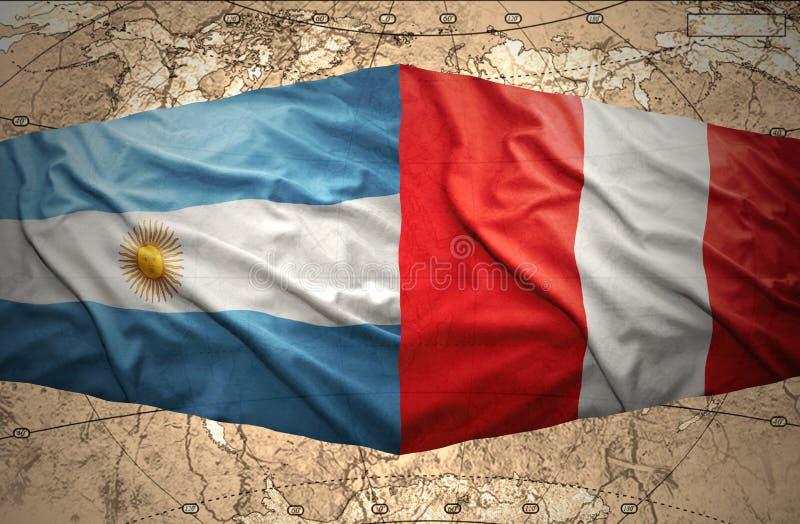 秘鲁和阿根廷 向量例证