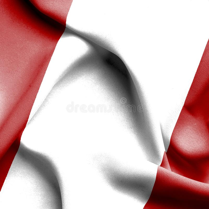 秘鲁挥动的旗子 皇族释放例证