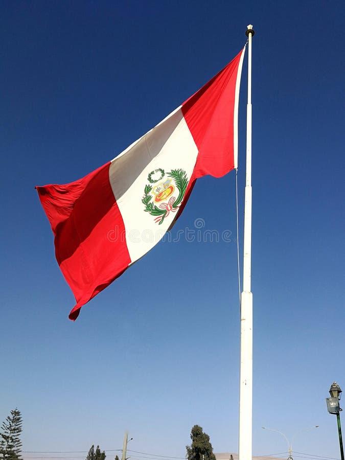秘鲁旗子 库存照片