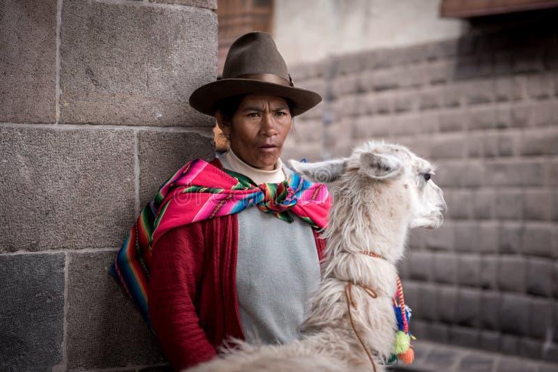 秘鲁村民 免版税图库摄影