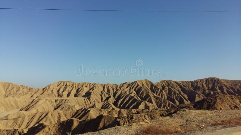 秘鲁沙漠 库存图片
