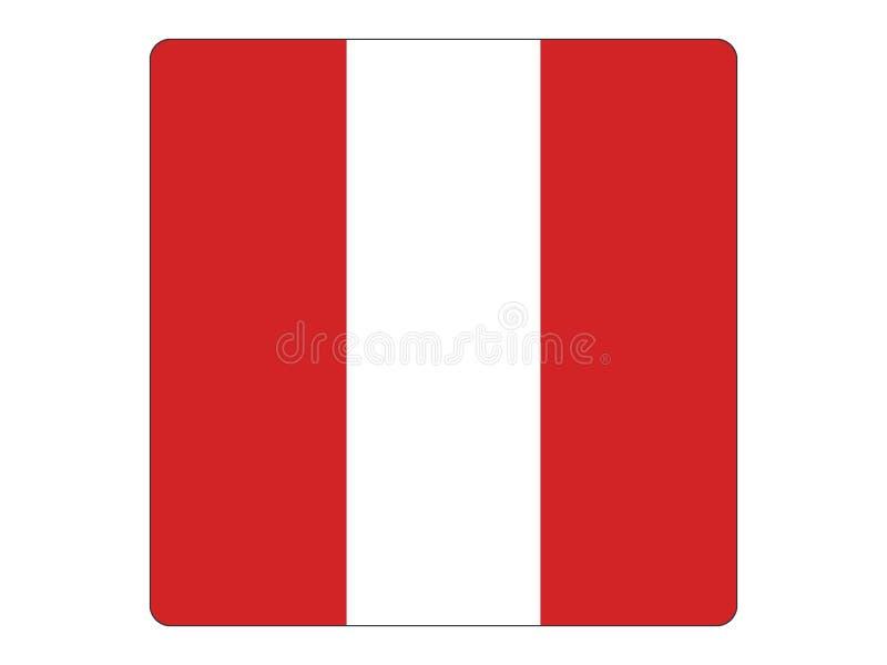 秘鲁的方形的旗子 向量例证