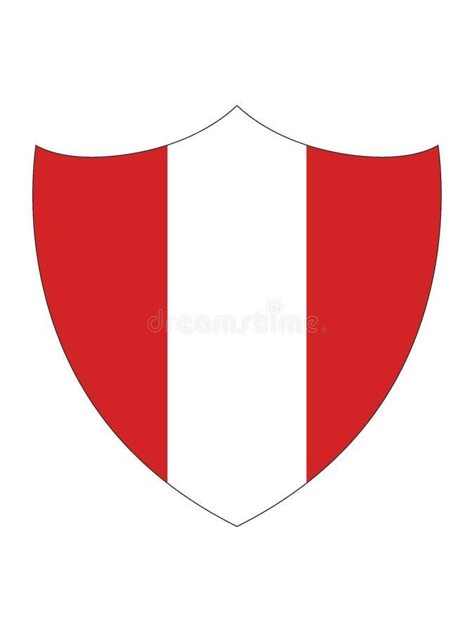 秘鲁的盾形的旗子 皇族释放例证