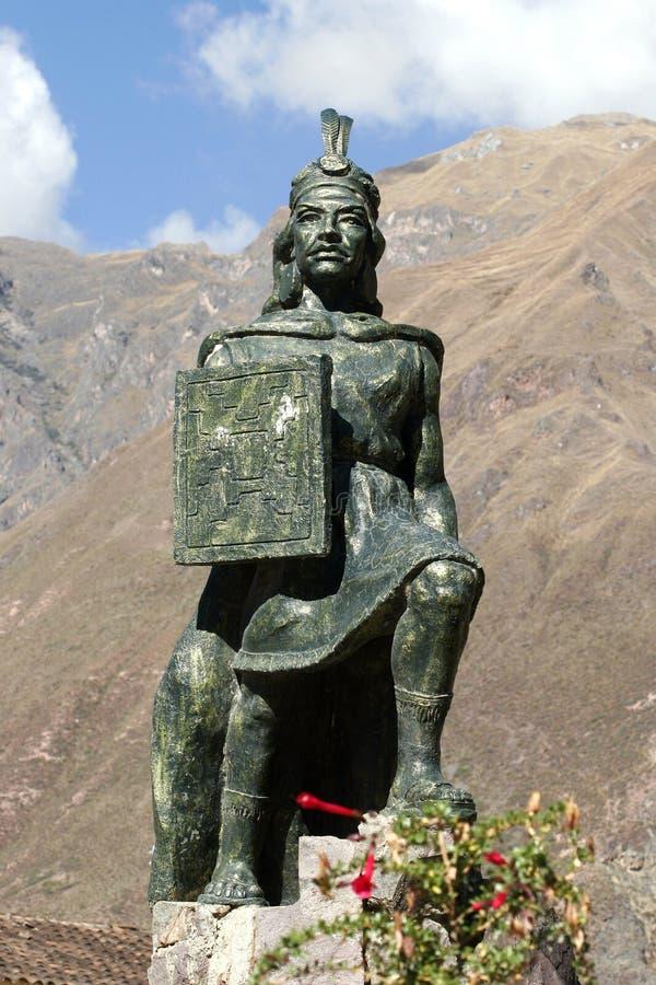 秘鲁雕象 免版税库存图片