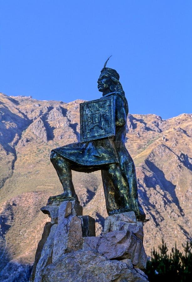 秘鲁雕象 库存照片